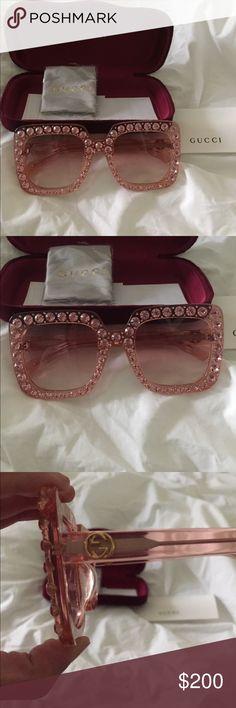 Rihanna Rhinstone Sunglasses Just like Rihanna's designer pair! Exact twin lol.. retail 1,000$ Gucci Accessories Sunglasses