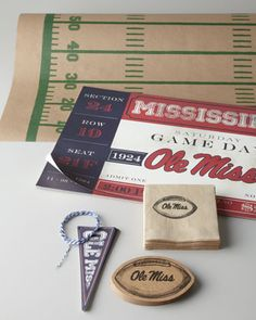 Collegiate Party Supplies at Neiman Marcus. Support your team with tailgate essentials at home or at the game. Neimans - I'm upset USC nor Clemson are available. Only Tennessee, Florida, Ole Miss, LSU, Bama, Auburn, A, Texas, and Georgia - Of course Texas is covered!