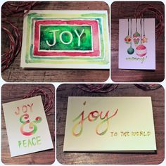 Watercolor Christmas cards - Currystrumpet