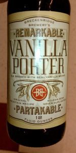Vanilla Porter is a American Porter style beer brewed by Breckenridge Brewery in Denver, CO. 83 out of 100 with 3315 ratings, reviews and opinions.