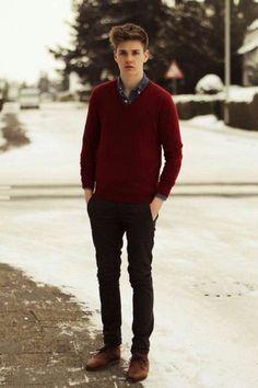 Mens Winter Outfit Idea pin on mens fashion winter outfits men Mens Winter Outfit. Here is Mens Winter Outfit Idea for you. Mens Winter Outfit casual winter fashion for men tiesdotcom winterfashion. Mens Fashion Sweaters, Mens Fashion Suits, Sweater Fashion, Ford F 1, Casual Winter Outfits, Men Casual, Casual Styles, Ralph Lauren Denim Shirt, Jumper