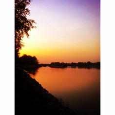 meriç river sunset