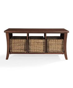 Loving this Mahagony Wallis Entryway Storage Bench on #zulily! #zulilyfinds