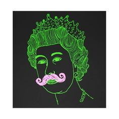 Queen - Black (Silkscreen Signed Limited Edition of 125) by Damien Weighill