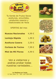 La Ibañesa en Yecla te ofrece y te permite probar estos productos en oferta para todos nuestros amigos y seguidores, te apetece un aperitivo?