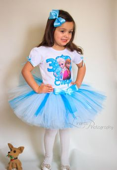 Frozen Birthday Outfit Birthday Girl Outfit by BabyBirthdayTee