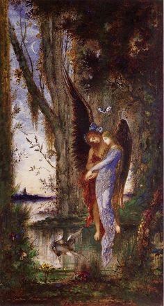 Evening and Sorrow, Watercolour by Gustave Moreau (1826-1898, France)