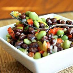 Edemame and black bean salad