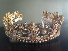 goldtone rhinestone tiara