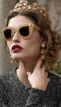 Dolce & Gabbana Eyewear - seriously, who wears these during the day??  well, beautiful anyway
