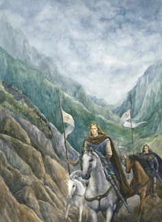 Angrod son of Finarfin was the first of the Exiles to comes to Menegroth, as messenger of his brother Finrod