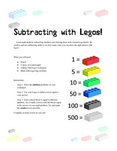 Great Daily 5 Math activity for 3rd, 4th and 5th Grade. Adding and Subtracting with Legos is an activity designed for teaching basic math using using manipulatives, group and individual work to play into better math skills.