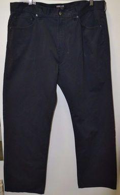 NEW #Kirkland Signature Men's 5 Pocket Brushed Cotton #Pants Navy Size 40 X 32 #KirklandSignature #DressFlatFront