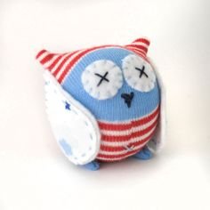 Cute sock owl ~ Baby Owl from craft schmaft ~