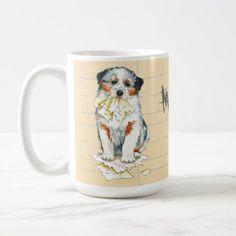 #My Aussie Ate My Lesson Plan Coffee Mug - #australian #shepherd #puppy #shepherds #dog #dogs #pet #pets #cute #australianshepherd