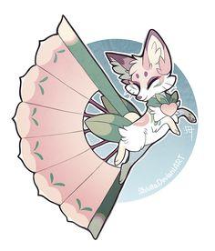 Momo, the foxfan by Shivita on DeviantArt