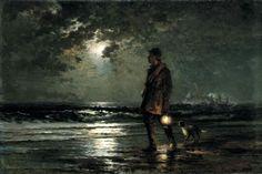 Life Saving Patrol, c.1893 byEdward Moran(English-born American, 1829–1901)
