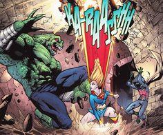 Killer Croc vs. Supergirl