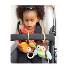 Safe Ducky Screened:  Treetop Friends Stroller Toys- Wise Owl sold at Kidsland  $ 9.00     #nontoxic #newparents #safetoys #organic #wellness #kidsland #healthy #parenting #shoporganic #baby