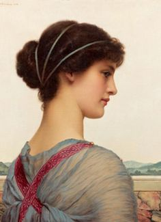John William Godward. Belleza clásica, 1908