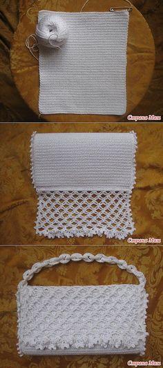 crochet knitting custom Bolso de noche. Master Class: | Oksana zar | Постила