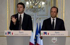 Renzi all'Eliseo. Con Hollande ''possiamo cambiare l'Europa''