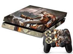 Faithion PS4 Console Designer Skin for Sony PlayStation 4 System plus Two2 Decals for PS4 Dualshock Controller God of War *** See this great product.Note:It is affiliate link to Amazon. #dog