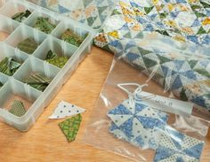 The trick to tiny piecing? Batchwork patchwork. (+ giveaway!)  love the idea no matter how big the pieces