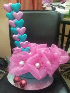 Ballon flower with chocolates