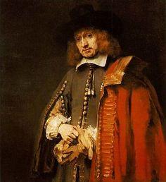 Rembrandt, Jan Six, 1654, olieverf op doek, 112 x 102 cm, Collectie Six, Amsterdam