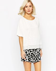Image 1 ofRiver Island Woven T-Shirt