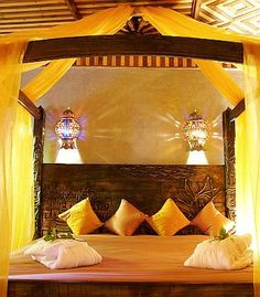 When you think of a Moroccan theme bedroom design, you likely have visions of Bedouin tents, exotic images of desert tents and harems similar to an Aladdin type fantasy look. Description from interiordesignonadime.com. I searched for this on bing.com/images