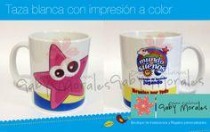 """Taza impresa a color con la imagen o figura que prefieras ldg.gabriela@gmail.com, nos encuentras en Facebook """"Gaby Morales Diseños Exclusivos"""""""