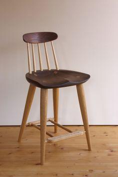 カウンターチェア 木の椅子 木の家具工房 葉音