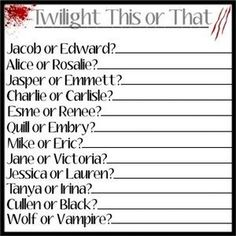 Twilight This or That!