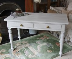 Elegant painted console table- £175.00 Available to purchase at www.65vintagehouse.co.uk