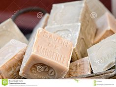Olive oil soaps from Marseille