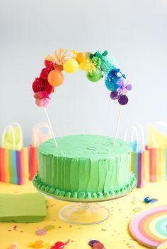 Rainbow Cake Topper DIY