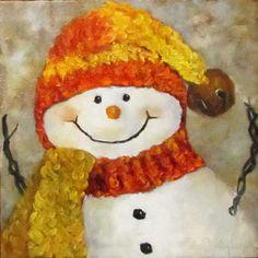 Custom Order of Snowman V for Cheri L. 12x12 by artprintsbycheri, $21.00