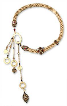 """Necklace """"Golden braid"""" 255 euro"""