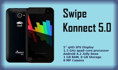 Konnect 5.0 Features – Swipe Lightest Ever Budget Smartphone Know the complete Swipe Konnect 5.0 features along with price and availability details. One of the lightest ever budget Smartphone with only 135 grams in weight. Read More: http://digitalsoon.com/2233/swipe-konnect-5-0-features.htm