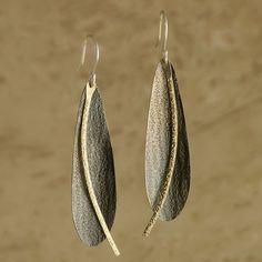 Golden Path Earrings handmade by Garden of Silver. www.gardenofsilver.com