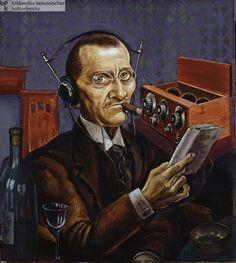 Kurt Günther, The Radioist (1927). Nationalgalerie, Staatliche Museen, Berlin.