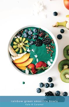 Rainbow Green Smoothie Bowls