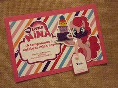 Invitación personalizada de My Little Pony. Cliente: AEIdesign by Carmen Ortega. https://www.instagram.com/aeidesign/