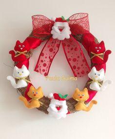 Guirlanda dos gatinhos e Noel