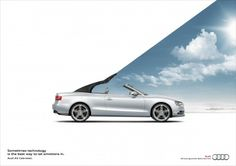 Audi - Sometimes technology is the best way to let emotions in. #Advertising Audi Cabrio, Print Advertising, Creative Advertising, Ads Creative, Creative Posters, Audi A5, Car Banner, Best Adverts, Ad Car