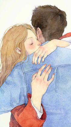 ค ด ถ ง 😘 illustration di 2019 couple drawings, couple art, dan love illus Couple Illustration, Illustration Art, Illustrations, Couple Drawings, Art Drawings, Anime Couples, Cute Couples, Cute Couple Art, Ange Demon