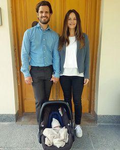 Prince Carl Philip and Princess Sofia Leave Hospital With Newborn Prince