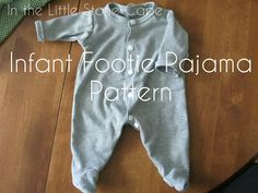 In the Little Stone Cape: Infant Footie Pajama Pattern; this might come in handy when adapting a pattern for Arlo's halloween costume. Sewing Kids Clothes, Baby Clothes Patterns, Baby Patterns, Clothing Patterns, Doll Clothes, Onesie Pattern, Pajama Pattern, Pyjamas, Baby Sleepers